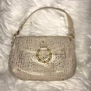 Kate Landry cream and gold bag.